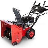 Premium Schneefräse extra breit 60cm - 6,5 PS Benzinmotor E-Start