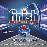 Finish Quantum Spülmaschinentabs, Geschirrspültabs für beste Finish Reinigung und Glanz, Geschirrspülmittel, Megapack, 64 Tabs