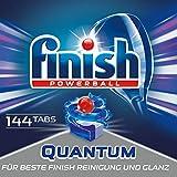 Finish Quantum Spülmaschinentabs, Geschirrspültabs für beste Finish Reinigung und Glanz, Geschirrspülmittel, Quartalspack, Gigapack, 144 Tabs