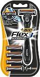 BIC Flex 3 Hybrid Rasierer Set Männer, 3 Klingen, 1 Rasiergriff und 4 Ersatzklingen