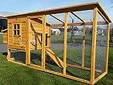 Hühnerstall Hühnerhaus Cocoon Hühnerstall Grosser Hühnerstall 4-6 Hühner mit Nistkasten aufmachbarem Dach für einfache Reinigung, mit Lüftungslöchern, mit stabilen Nistkasten, 30 % größer als Vorläufermodell (3000WX), ca. 250 cm