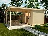 weka Lounge-Haus 225 A Gr. 1, natur, 21 mm, Schiebetür, Lounge 300 cm, ohne RW
